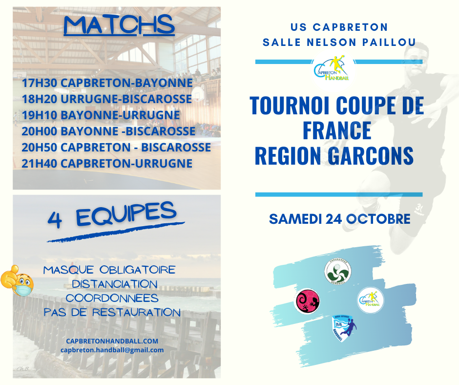 TOURNOI QUALIFICATION COUPE DE FRANCE REGIONS GARCONS