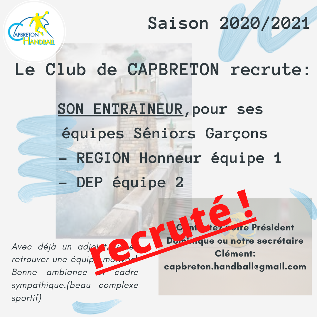 MISSION RECRUTEMENT COATCH SENIORS G:  OK😎 !